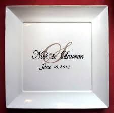 plate guest book wedding guest book alternative wedding plate signature