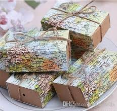 earth day world map wedding favors boxes wedding box around