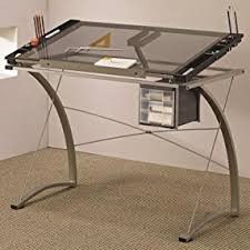 Desk With Drafting Table Amazon Com Coaster Desks Artist Drafting Table Desk Kitchen U0026 Dining