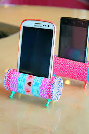 diy phone holder with toilet paper rolls easy craft toilet paper
