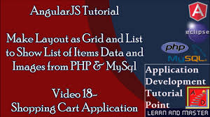 grid layout angularjs angularjs tutorials for beginners shopping cart make layout using