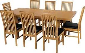 Oak Extending Dining Table And 8 Chairs Dining Table And 8 Chairs Furniture Ebay