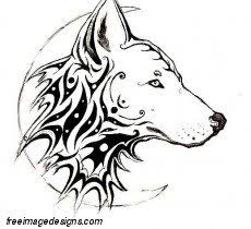 half moon and wolf image free image designs