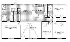 Open Layout Floor Plans 4 Bedroom Floor Plan C 9301 Hawks Homes Manufactured