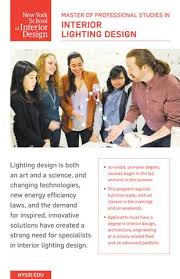 Master Degree In Interior Design by Interior Lighting Design Graduate Program By New York Of