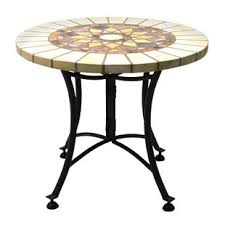outdoor mosaic accent table mosaic patio tables you ll love wayfair