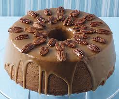 pumpkin pecan cake with brown sugar and bourbon glaze finecooking
