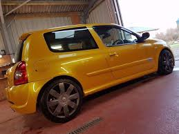 renault orange 2005 liquid yellow renault clio 182 recaros ktec exhaust in