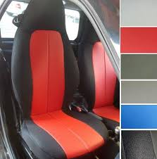 housse siege smart for smart fortwo leatherette car seat covers with synthetic sides