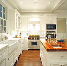 Those Who Love White Kitchens Or Love Them A Lot And I Am A Huge - White kitchen cabinets with butcher block countertops