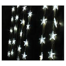 led indoor christmas curtain star lights cool white 1 2m x 1 2