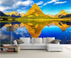 Mountain Mural Wall Art Wallpaper Compare Prices On Golden Mountain Painting Online Shopping Buy