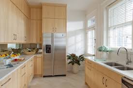 this sleek kitchen features custom made quarter sawn maple