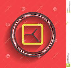Clock Design Vector Time Paper Modern Clock Design Royalty Free Stock Image