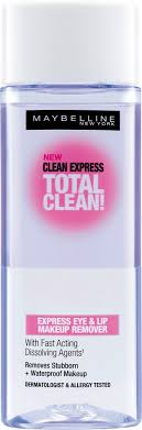 maybelline clean express total clean makeup remover about