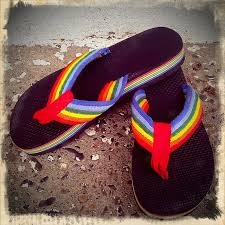 1980s colors rainbow flip flops in the 80s like totally 80s