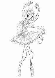 ballerina coloring pages kids coloring pages