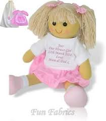 flower girl doll gift personalised large rag doll flower girl bridesmaid dolly gift plus