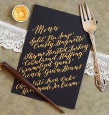 calligraphed diy menu cards tutorial diagonal concept