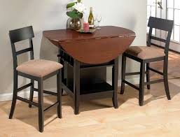 high top dining table for 4 jofran brown and cherry counter height dinette set