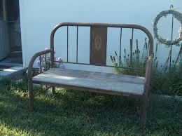 Emily Garden Bench Garden Bench Made From An Old Iron Bed I Have Something Similar