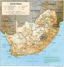 South Africa World Map by South Africa Physical Map South Africa Geography South Africa