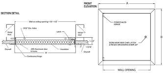 Ceiling Access Doors by Insulated Aluminum Exterior Access Door Panel Wb Al 4000