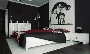Bedroom Wall Storage Units Tranquil Black And White Bedroom For Men With Wall Arts Also White