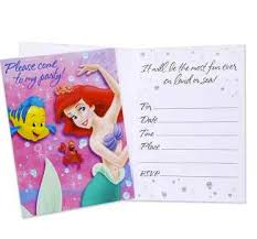 little mermaid party invitations kids party supplies and ideas