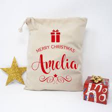 personalised christmas surprise gift bag for kids christmas
