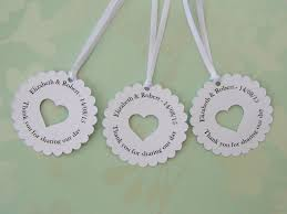 wedding tags personalised wedding favour tags