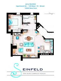 jerry seinfeld apartment floorplan design pinterest jerry spanish artist and interior designer inaki aliste lizarralde draws these famous house and apartment floor plans as a hobby this is seinfeld s apartment