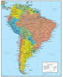 Map Of Sounth America by South America Wall Map Geopolitical Deluxe Edition