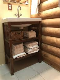 Log Cabin Bathroom Vanities by Project Converting A Baby Changing Table Into A Bath Vanity