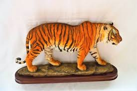 large bengal tiger ornament by the leonardo collection in downham