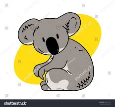 koala cartoon hand drawn image original stock vector 705017413