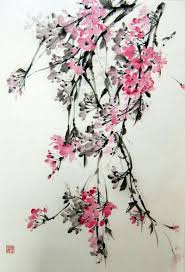 Japanese Flowers Pictures - love the softness of the flowers but maybe a little more