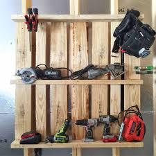 Garage Organization Idea - pallet idea tool organizer for the garage