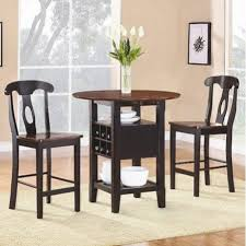 Kitchen Folding Table And Chairs - kitchen table adorable black wood dining table high top kitchen