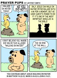 matthew 14 22 33 walk on water christian cartoons from prayer
