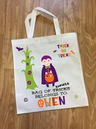 personalized trick or treat bags personalized trick or treat bags strawberry bleu boutique