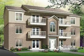 appartement avec une chambre dé du plan de maison multi logements w3036