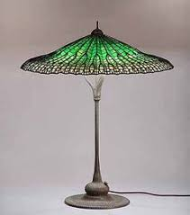Louis Comfort Tiffany Lamp Lead Glass Tiffany Studios A U0027lotus U0027 Leaded Glass And Bronze