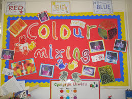 a paint colour mixing display photo from melanie bulletin