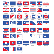 Florida Flag History United We Stand A Redesign Of Usa State Flags By Ed Mitchell