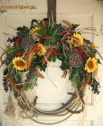 wreath with horseshoes cowboy western home decor western