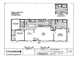 champion manufactured homes floor plans champion 1814 sf manufactured home 20th century homes