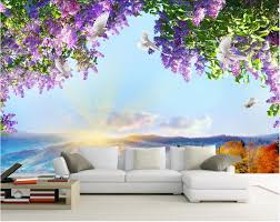 popular wall murals flowers buy cheap wall murals flowers lots custom mural 3d photo wallpaper flowers sky dove decoration painting picture 3d wall murals wallpaper for