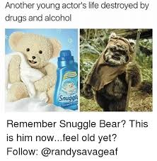 Snuggle Bear Meme - another young actor s life destroyed by drugs and alcohol snuggle