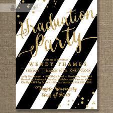 graduation party invitation black gold graduation party